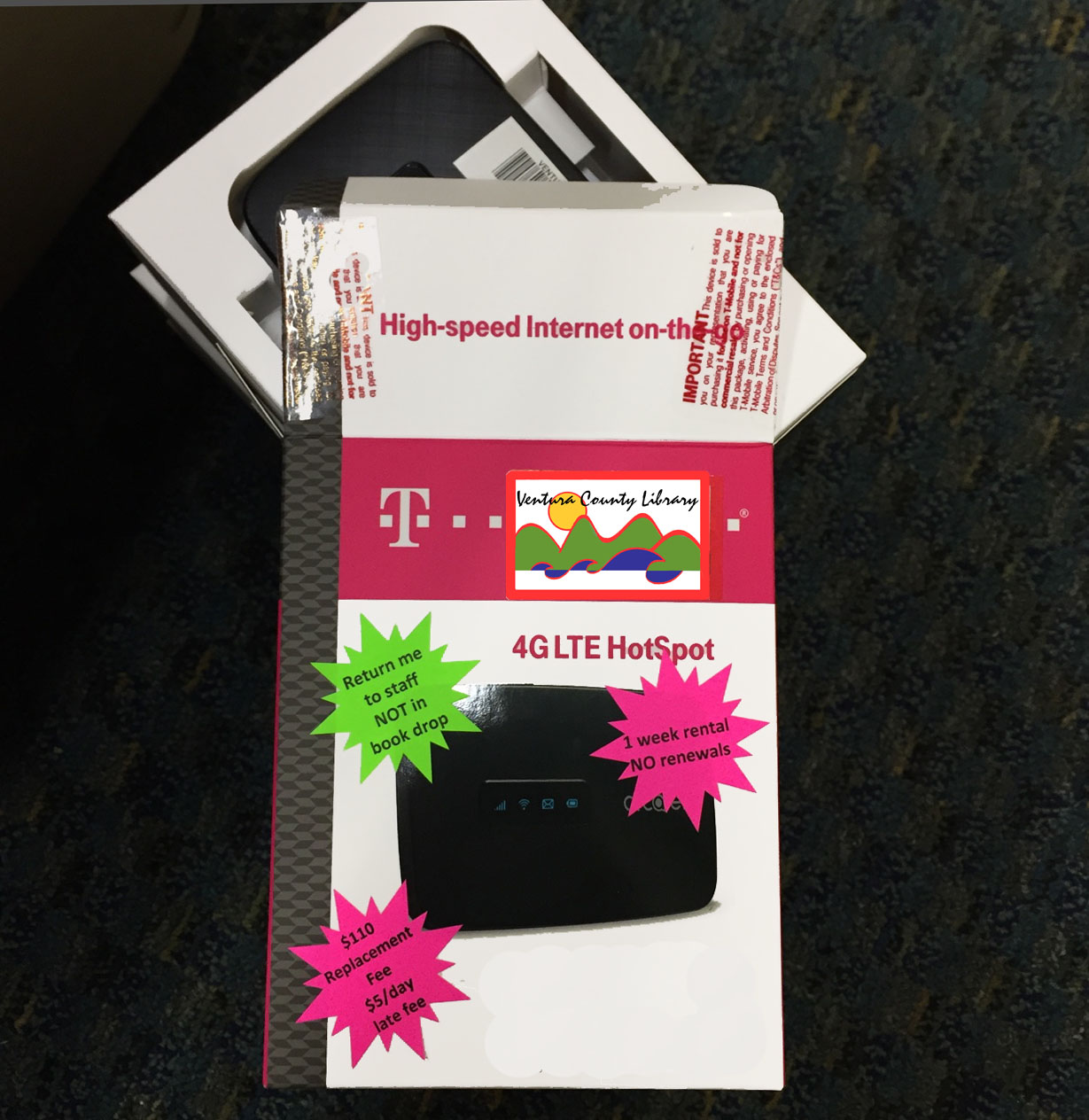 T-mobile hotspot in package