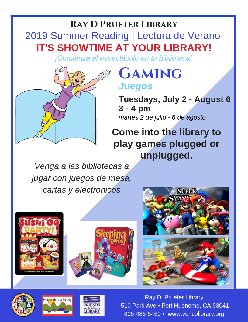 Prueter - Gaming | Ventura County Library