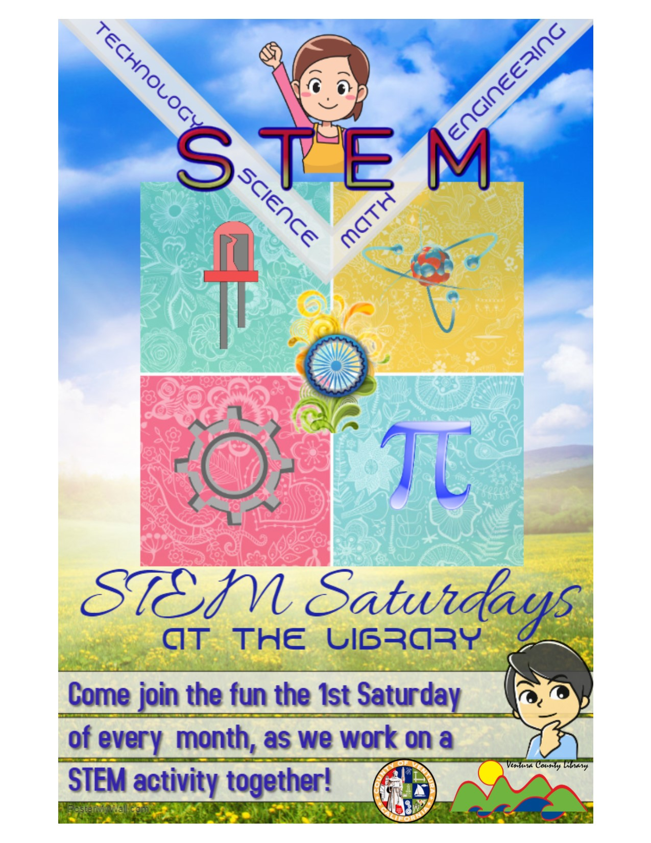 STEM Saturday flyer at Fillmore Library