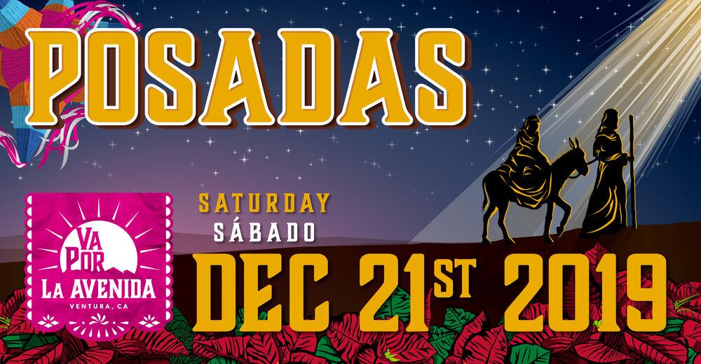 Flyer with text VA POR LA AVENIDA POSADAS, SATURDAY/SABADO, DEC 21ST 2019