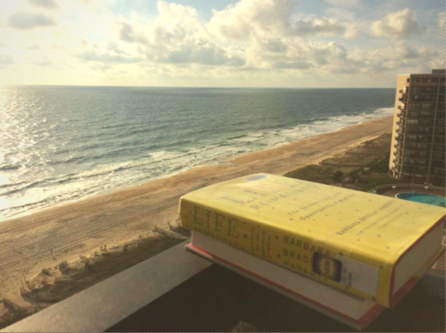 Book overlooking beach