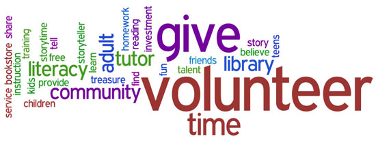 volunteer, give, time, library, community, literacy