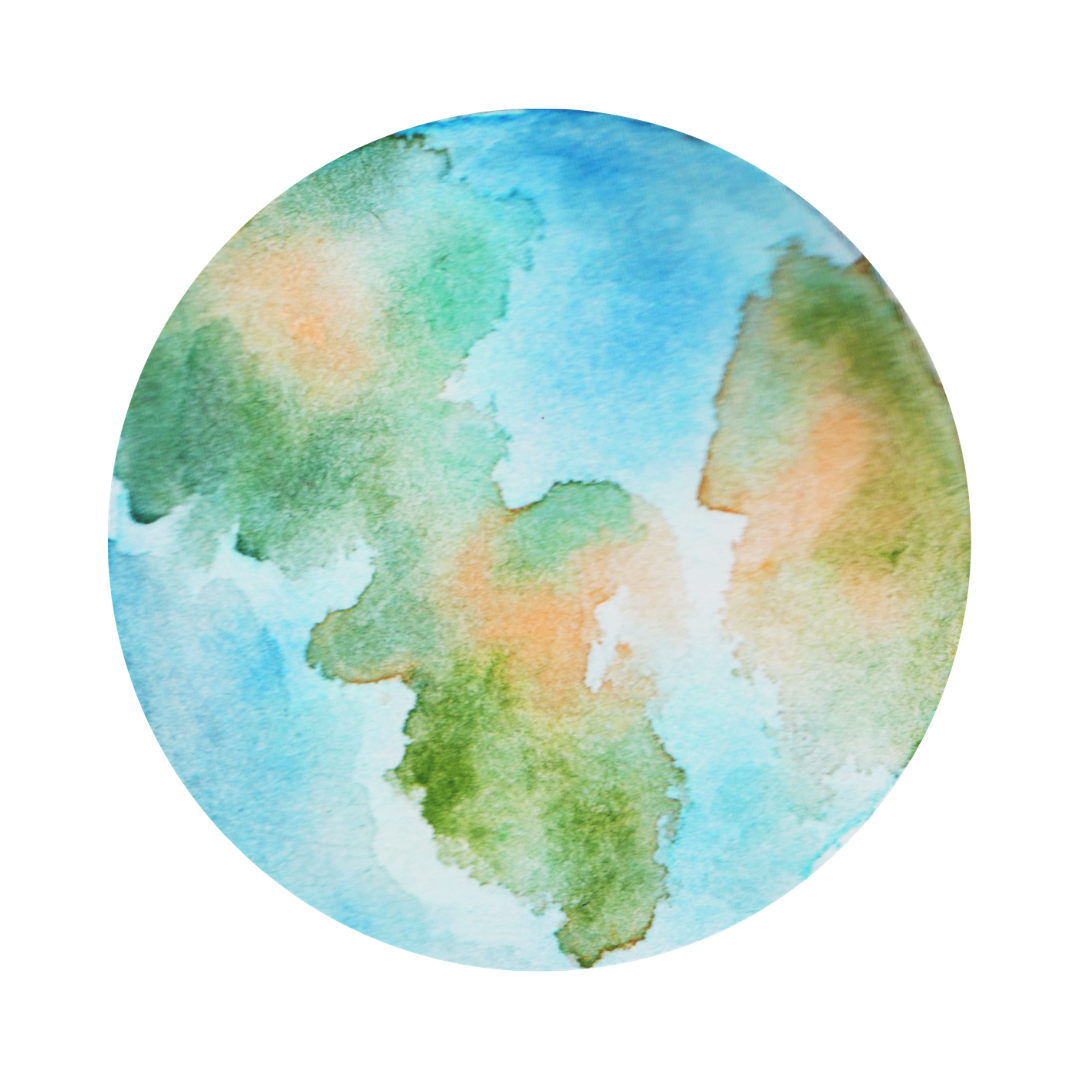 a watercolored earth