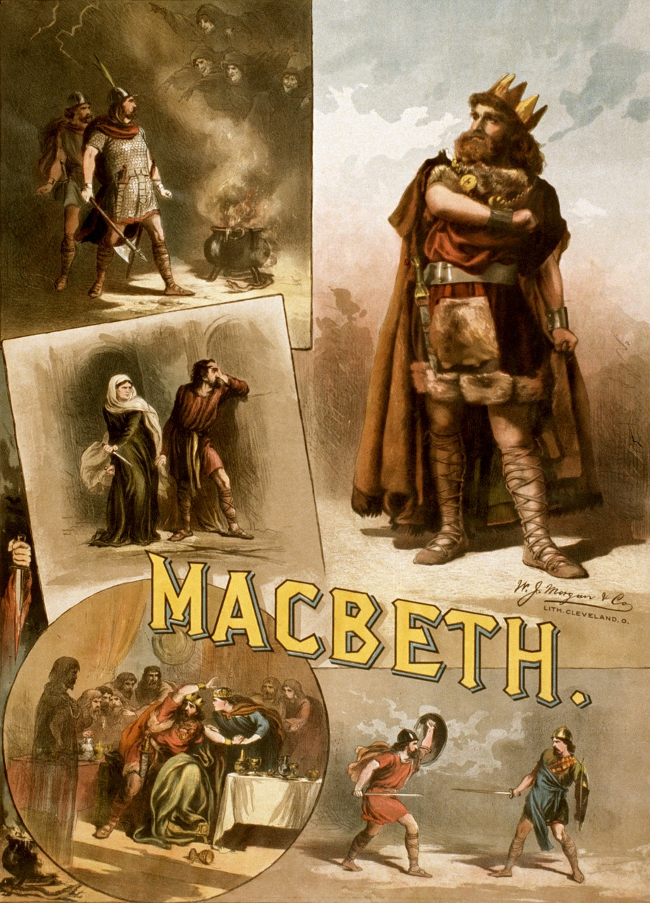 Image by WikiImages from Pixabay - images from Macbeth;