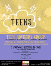 Teen Advisory Group Flyer