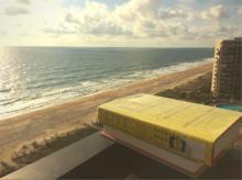 Book overlooking beach